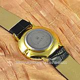 Мужские наручные часы Rolex Quartz Date Gold Black с календарем кварцевыя Япония люкс реплика, фото 2