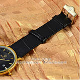 Мужские наручные часы Rolex Quartz Date Gold Black с календарем кварцевыя Япония люкс реплика, фото 3