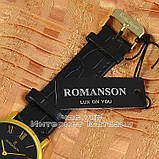 Наручные часы Romanson Adel Quartz Gold Black Roma мужские и женские унисекс кварцевые часики реплика, фото 3