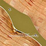 Женские наручные часы Alberto Kavalli Quartz White Gold классические кожаный ремешок качественная реплика, фото 2