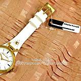 Женские наручные часы Alberto Kavalli Quartz White Gold классические кожаный ремешок качественная реплика, фото 4