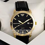 Мужские наручные часы Emporio Armani Quartz Gold Black Эмпорио Армани качественные люкс реплика, фото 2