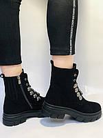 Натуральне хутро. Люкс якість. Жіночі зимові черевики. Натуральна замша .Туреччина. Mario Muzi.Р. 38, фото 6