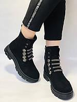 Натуральне хутро. Люкс якість. Жіночі зимові черевики. Натуральна замша .Туреччина. Mario Muzi.Р. 38, фото 4