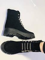 Натуральне хутро. Люкс якість. Жіночі зимові черевики. Натуральна замша .Туреччина. Mario Muzi.Р. 38, фото 7
