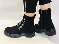 Натуральне хутро. Люкс якість. Жіночі зимові черевики. Натуральна замша .Туреччина. Mario Muzi.Р. 38, фото 5