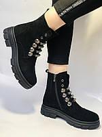 Натуральне хутро. Люкс якість. Жіночі зимові черевики. Натуральна замша .Туреччина. Mario Muzi.Р. 38, фото 9
