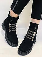 Натуральне хутро. Люкс якість. Жіночі зимові черевики. Натуральна замша .Туреччина. Mario Muzi.Р. 38, фото 2