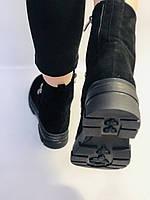 Натуральне хутро. Люкс якість. Жіночі зимові черевики. Натуральна замша .Туреччина. Mario Muzi.Р. 38, фото 10