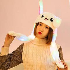 Шапка з рухомими вухами Eco Bamboo світиться Білий Кролик