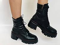 Alpino.Турецкие осенние ботинки из натуральной кожи.. Современный дизайн.  Р 38.39.40, фото 3