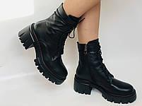 Alpino.Турецкие осенние ботинки из натуральной кожи.. Современный дизайн.  Р 38.39.40, фото 5