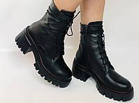 Alpino.Турецкие осенние ботинки из натуральной кожи.. Современный дизайн.  Р 38.39.40, фото 7