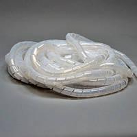 Организатор для укладки кабелей в жгут, спиральный ПВХ, д. 24 мм, 10 м, белый