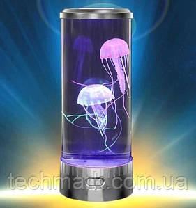 Светильник Ночник Медузы в аквариуме Светодиодная лампа LED Jellyfish Mood Lamp 7 цветов