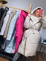 Женская куртка-палатка (сезон: зима) (под заказ 5-7 д, малина, лиловый,черный, голубой,беж,хаки)
