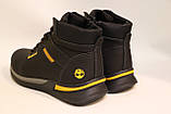 Чоловічі зимові шкіряні черевики чорного кольору. Розміри 41-46, фото 3