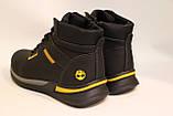 Мужские зимние кожаные ботинки черного цвета. Размеры 41-46, фото 3