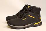 Чоловічі зимові шкіряні черевики чорного кольору. Розміри 41-46, фото 2