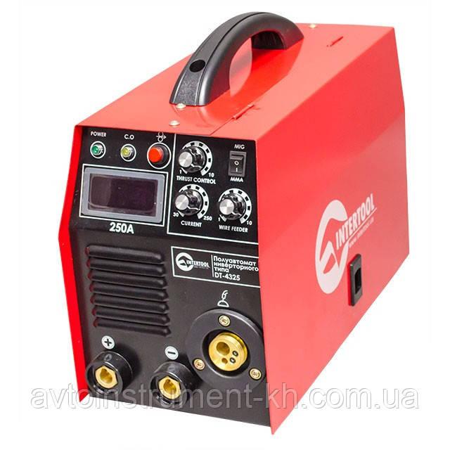 Сварочный полуавтомат инверторного типа комбинированный 7,1кВт., 30-250А., DT-4325