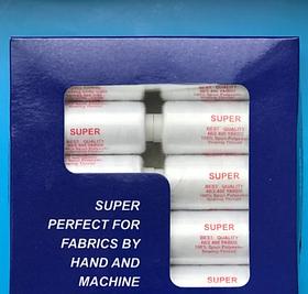 Нитки белые 40/2 упаковка белые