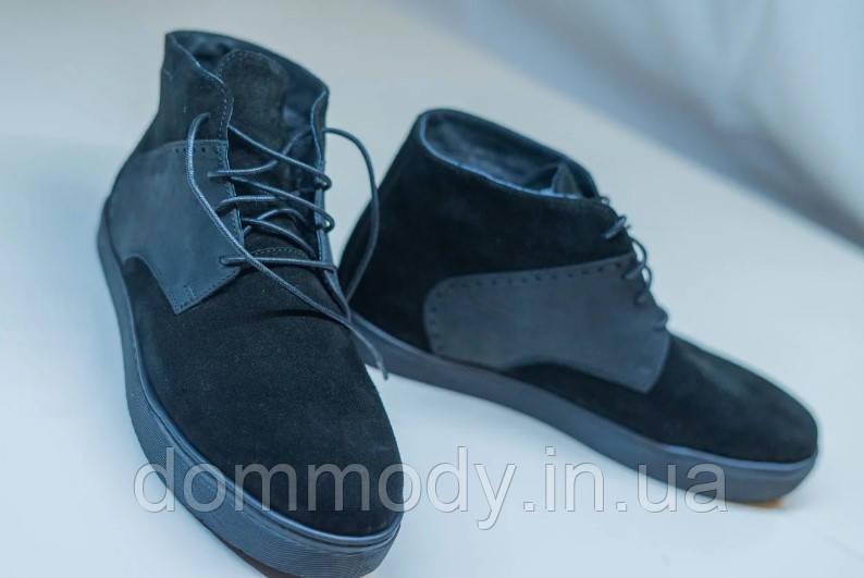 Ботинки чоловічі зимові із натуральної замші