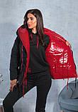 Пуховик женский зимний красный, фото 4