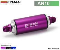 Алюминиевый гоночный Топливный фильтр со стальной фильтр AN10 фитинги фиолетовый ЭП-OF10-Пур МодельEP-OF10-PUR