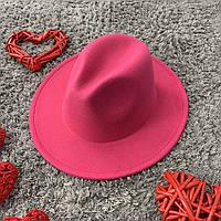 Шляпа Федора унисекс с устойчивыми полями Original малиновая