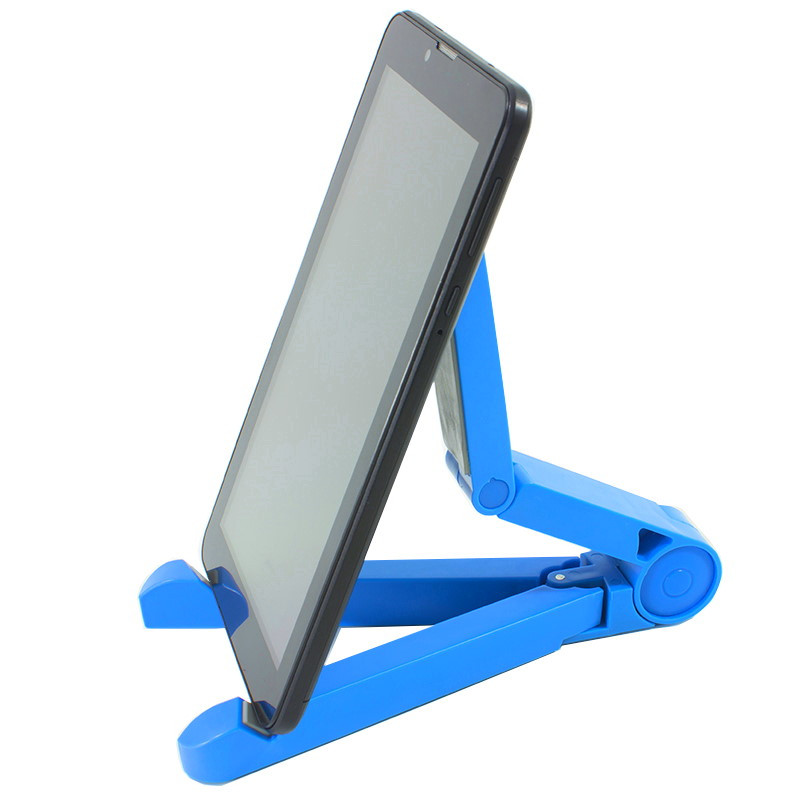 Универсальная складная подставка для планшета треугольная синяя УЦЕНКА
