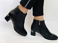 Женские стильные осенние ботинки. На среднем каблуке. Натуральная кожа. Люкс качество. Erisses. Р. 36.37.38.40, фото 2