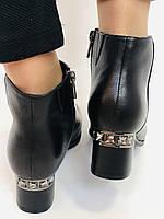 Женские стильные осенние ботинки. На среднем каблуке. Натуральная кожа. Люкс качество. Erisses. Р. 36.37.38.40, фото 5