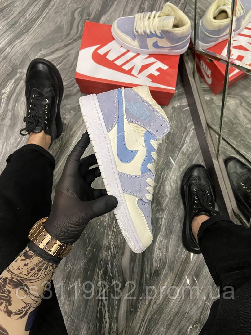 Женские кроссовки Nike Air Jordan 1 Retro Kight Blue (Голубой) Найк Джордан Рутро