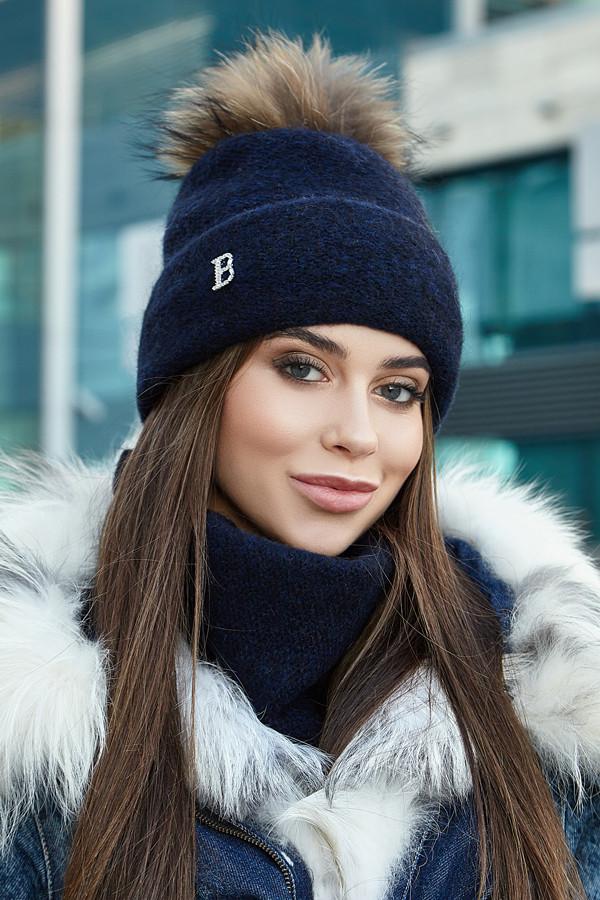 Комплект «Лісбет» (шапка і шарф-хомут)5043-7