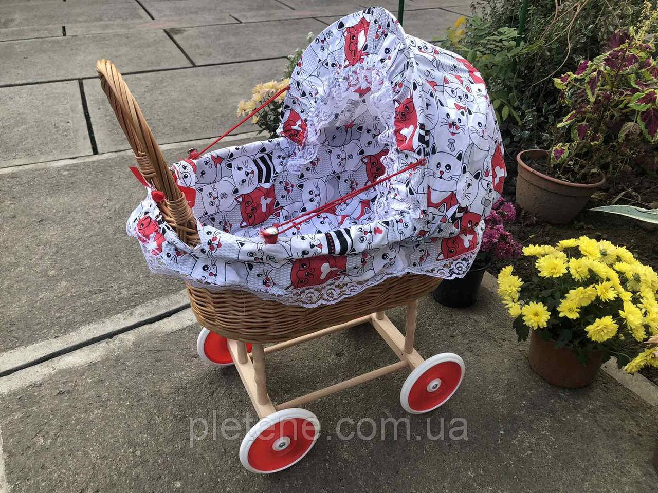 Дитяча коляска з лози