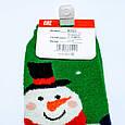 Ангоровые махровые шерстяные носки в стиле Новый Год снеговик размер 37-41, фото 4