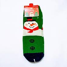 Ангорові махрові вовняні шкарпетки в стилі Новий Рік сніговик розмір 37-41