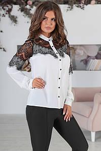 Вечірня жіноча блузка Leroy, білий