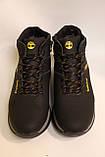 Чоловічі зимові шкіряні черевики чорного кольору. Розміри 41-46, фото 4