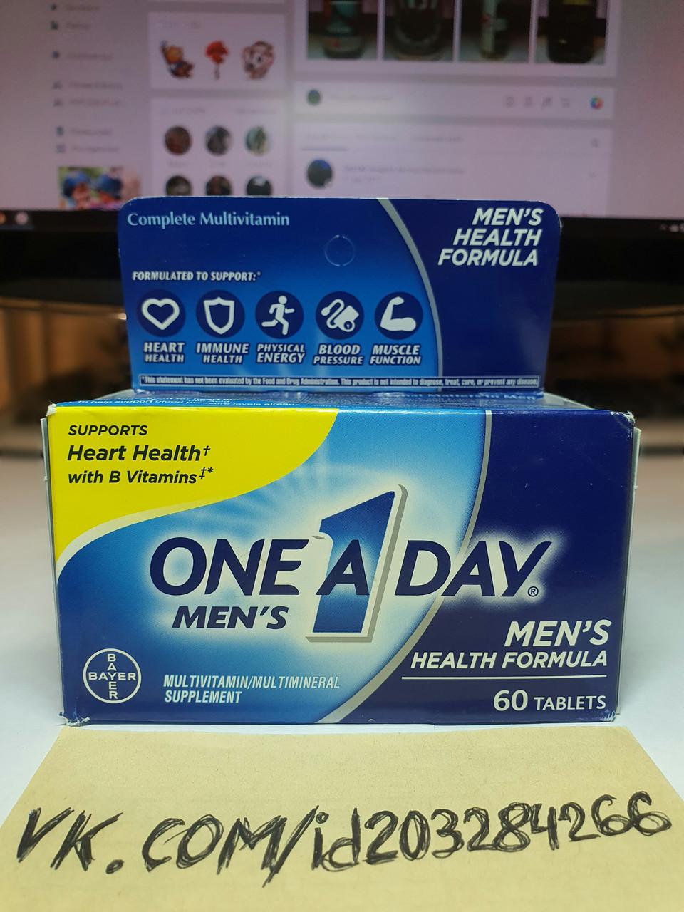 Витамины для мужчин Bayer One A Day Men's Healthy Formula 60 tabl