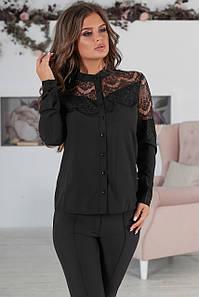 Вечірня жіноча блузка Leroy, чорний