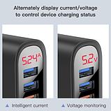 Быстрое зарядное устройство KUULAA QC 3.0 3 USB порта дисплей вольтметр амперметр Цвет Белый, фото 4