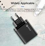 Быстрое зарядное устройство KUULAA QC 3.0 3 USB порта дисплей вольтметр амперметр Цвет Белый, фото 7