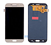 Дисплей (экран) для Samsung A720F Galaxy A7 (2017) + тачскрин, золотистый, Gold Sand,  TFT, копия