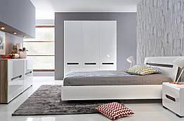 Спальня Azteca BRW белый/белый глянец