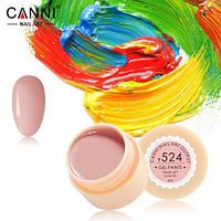 Гель-краска Canni №524 ( розово-бежевая) 5 мл