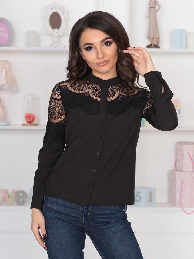 Витончена жіноча блузка Peris, чорний