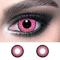 """Розовые контактные линзы цветные ELITE Lens """"Pink"""" 14.5 мм. (N0143)"""