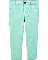 Классные твиловые штанишки бирюзового цвета для мальчика Картерс