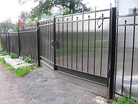 Решетчатые ворота с поликарбонатом